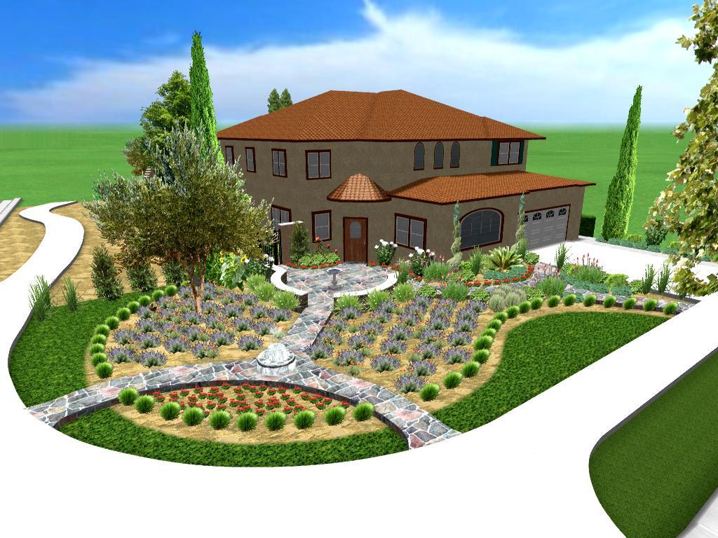 تمرین طراحی فضای سبز با نرم افزار ریل تایم آرشیتکت5
